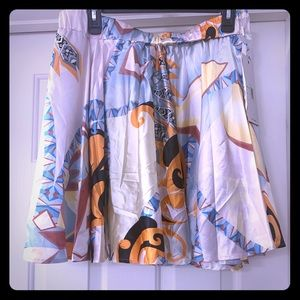 Beautiful multi colored flare skirt